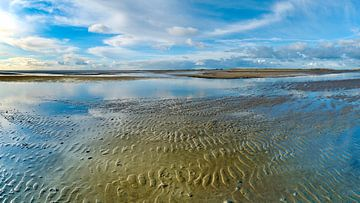 Eine blaue Welt im Wattenmeer