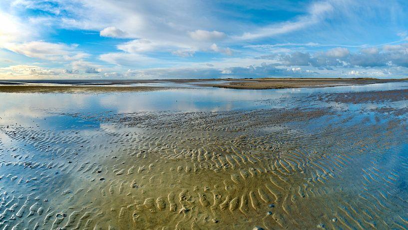 Eine blaue Welt im Wattenmeer von Jan Huneman