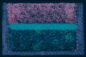 Abstract met blauw, groen en roze