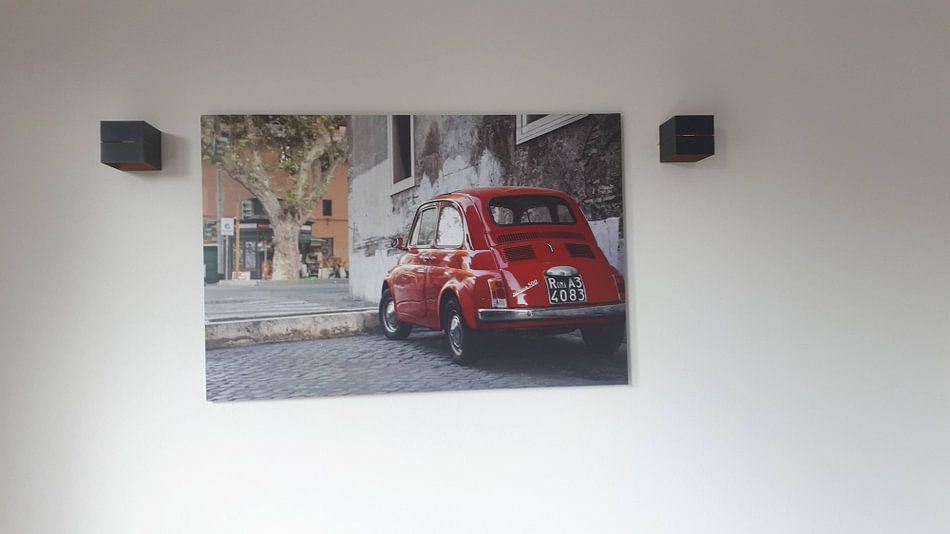 Kundenfoto: Roter Fiat Nuova 500 von E Jansen, auf alu-dibond