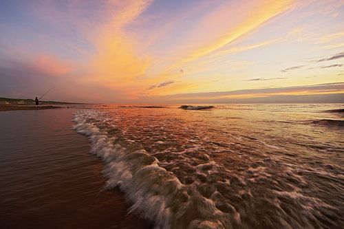 zonsondergang aan zee von Dirk van Egmond