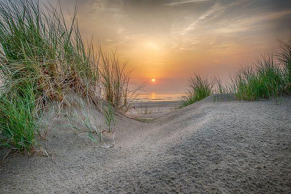 a Lovely orange Sunset van Alex Hiemstra