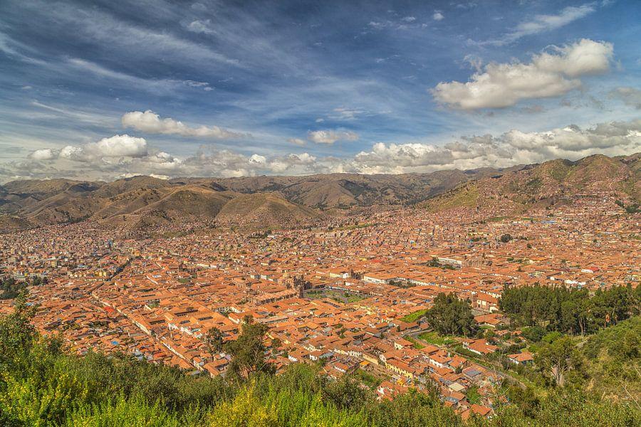 A view at Cusco (Peru) van Tux Photography