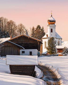 Winter in Wamberg, Bayern, Süddeutschland von Henk Meijer Photography
