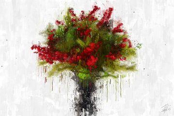 Ein Bund Roter Beeren von Theodor Decker
