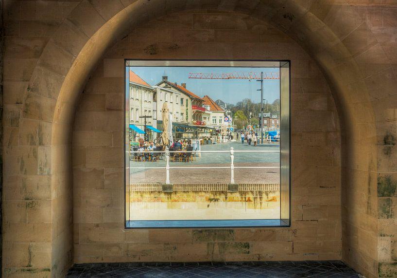 Doorkijkje Geulpoort Valkenburg van John Kreukniet