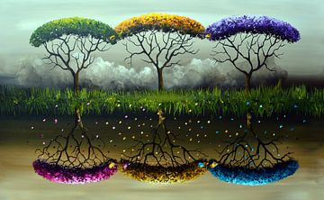 Colorfull Forest. von Gena Theheartofart