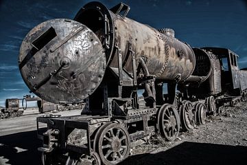 Alter Eisenbahnwaggonfriedhof. von Tanja de Mooij