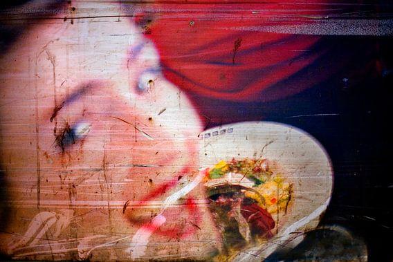 beschadigd portret van  Edwin van Laer
