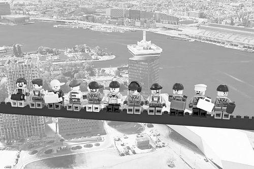 Lunch atop a skyscraper Lego edition - Amsterdam van