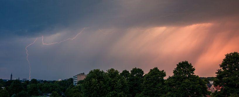 Bliksem Panorama van Vincent van den Hurk