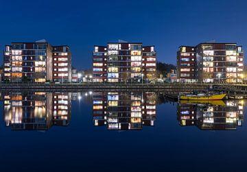 Reflexion im Wasser (Groningen - Niederlande) von Marcel Kerdijk