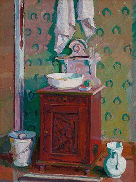 Harold GILMAN~Interieur mit einem Waschbecken