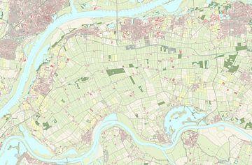 Kaart vanWest Maas en Waal