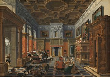 Gezelschap in een interieur, Bartholomeus van Bassen
