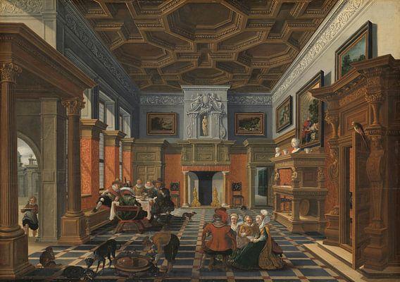 Gezelschap in een interieur, Bartholomeus van Bassen van Meesterlijcke Meesters