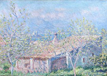 Maison du jardinier à Antibes, Claude Monet sur