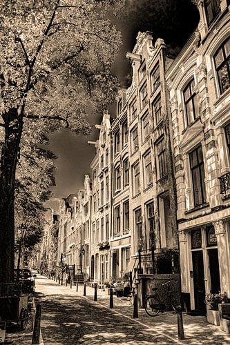 Jordaan Westerkerk Amsterdam Nederland Sepia