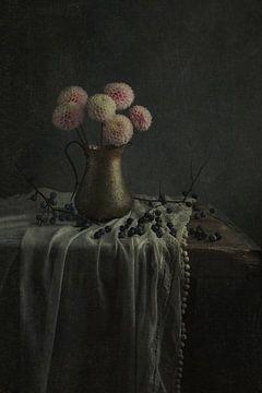 Stilleven met bloemen (gezien bij vtwonen) van Carolien van Schie