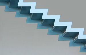 De blauwe trap