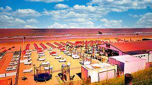 Leere Strandstühle