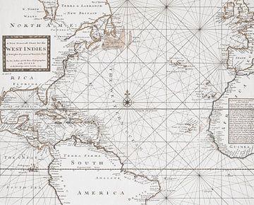 Historische Landkarte Westindien Und Südamerika von Andrea Haase