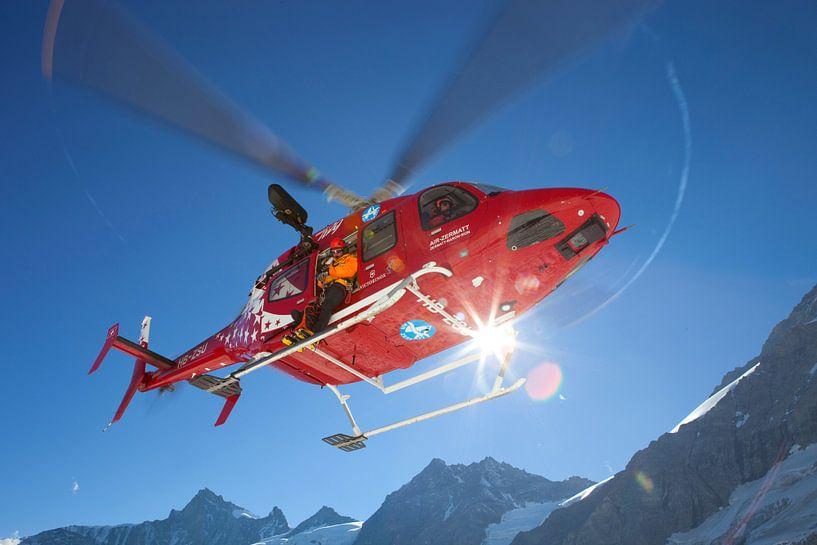 Bell 429 Rettungshubschrauber Air Zermatt von Menno Boermans