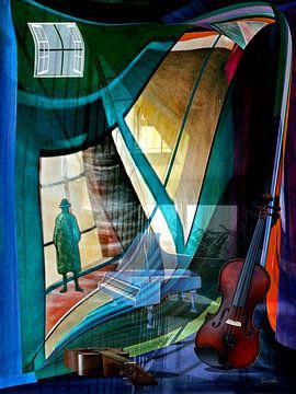 Musik schwebt im Raum A von Gertrud Scheffler
