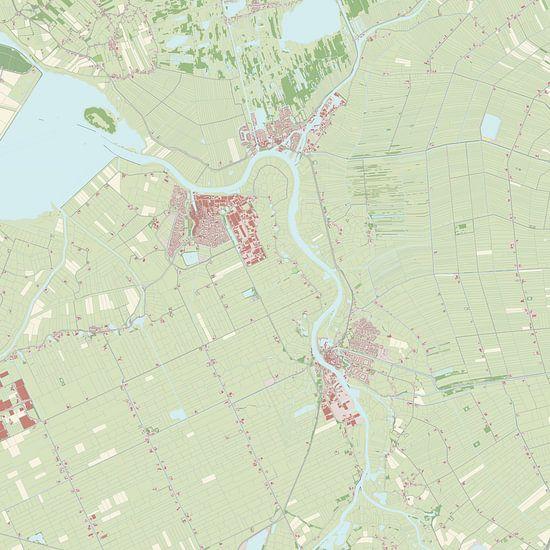 Kaart vanZwartewaterland van Rebel Ontwerp