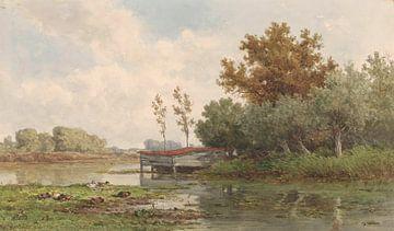 Landschap met water en eenden, Willem Roelofs (I), 1832 - 1897