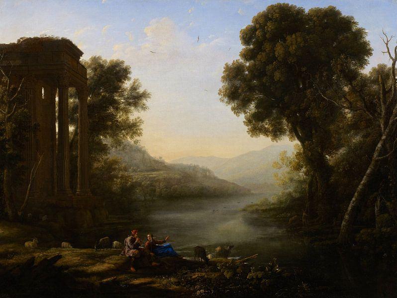 Claude Lorrain. Pastoraal Landschap van 1000 Schilderijen