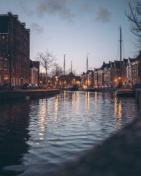 Hoge der A, Lage der A, pakhuizen, grachtenpanden, Groningen van Harmen van der Vaart