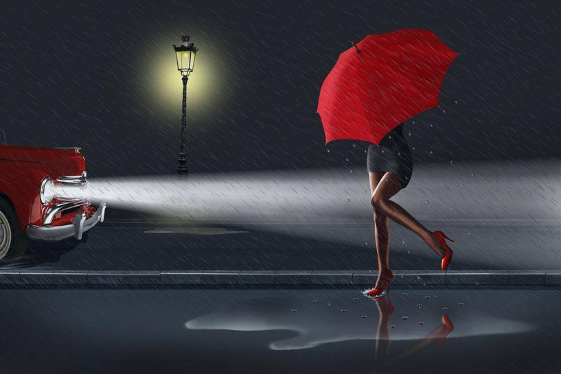Rainy day 1 Colorkey RED von Monika Jüngling