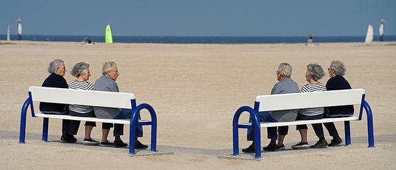 Genieten met drie tweelingen op het strand van Gert van Santen