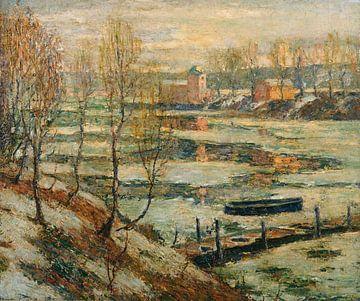 Ernest Lawson Eis im Fluss
