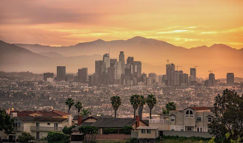 Los Angeles sunrise van Photo Wall Decoration