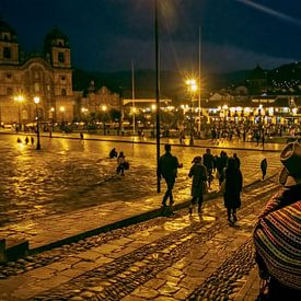Cusco en soirée sur Eddie Meijer