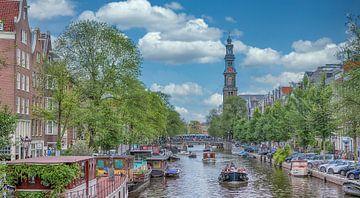 Panoramablick auf die Prinsengracht von Peter Bartelings Photography
