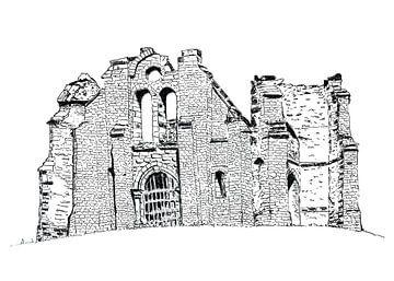 Ruine Mont Gargan in de Franse Limousin van Ivonne Wierink