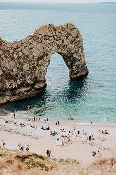 Plage | Sud de l'Angleterre | Blanchiment de la plage ouest | Côté jurassique | Été sur Iris van Tricht
