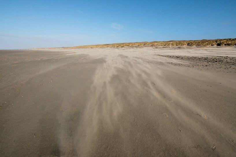 Stuifzand op het strand van Erik Reijnders