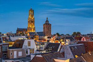 Blauw uur in Utrecht