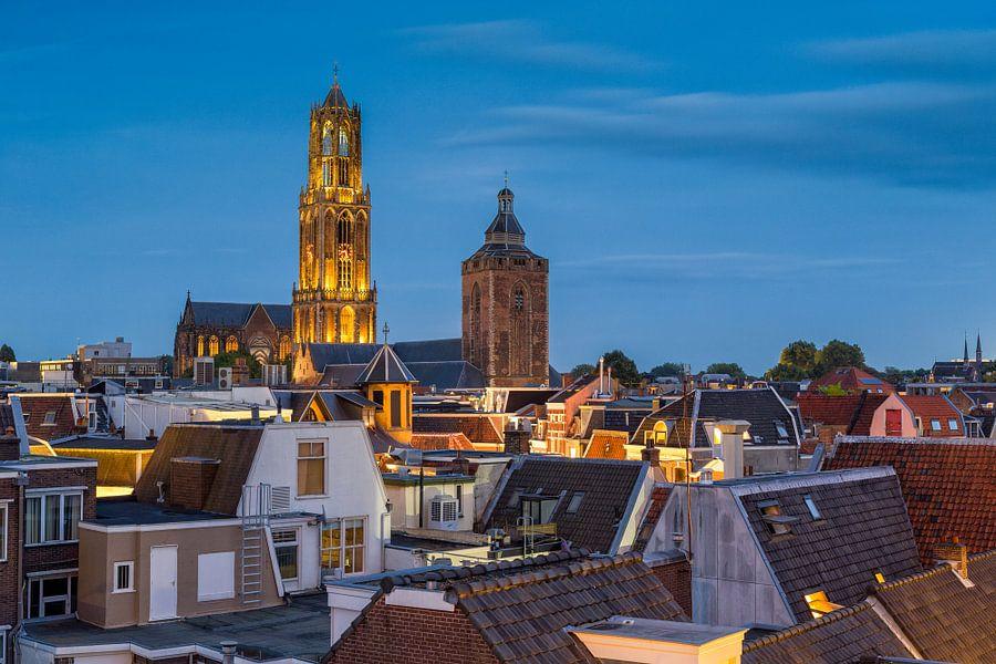 Blauw uur in Utrecht van Thomas van Galen