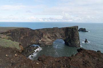 Dyrhólaey Arch in IJsland van