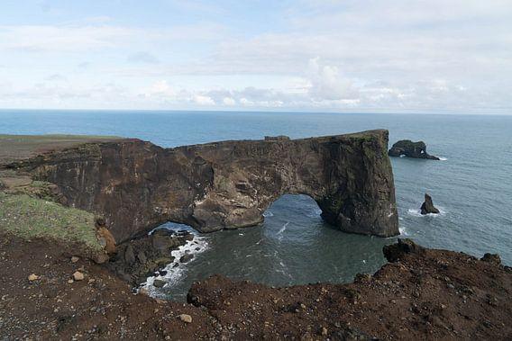Dyrhólaey Arch in IJsland van Thea Sijtsma