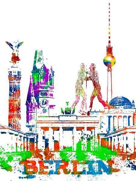 Berlijn van Printed Artings
