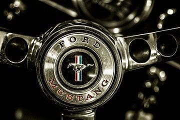 Die Liebe meines Lebens, die einen Ford Mustang fährt von Studio de Waay