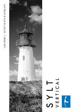 Sylt Vertical Leuchtturm List-West (Schwarz-weiß) von Christian Müringer