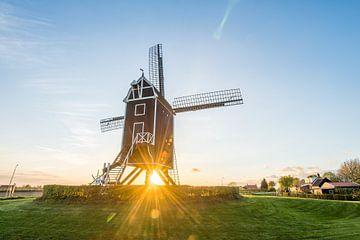 Mühle Der Hut bei Sonnenuntergang von Marijn Goud