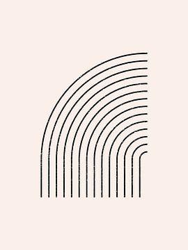 Retro jaren 20 vintage  geometric shape in Bauhaus stijl . Nr.7 van Dina Dankers